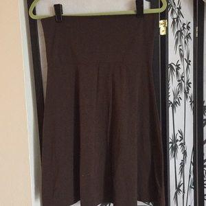 Brown Old Navy Foldover Yoga Skirt